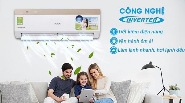 Máy lạnh Inverter Aqua AQA-KCRV9VKS