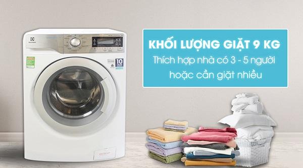 Máy giặt Electrolux Inverter 9 kg EWF12933