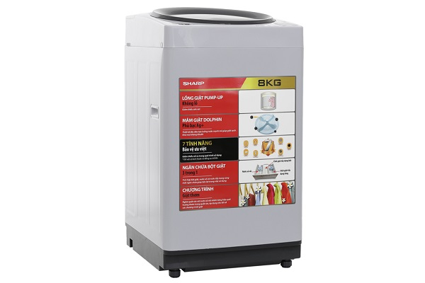 Máy giặt Sharp ES-U80GV-H 8 kg