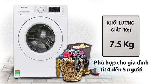 Máy giặt Samsung WW75J42G3KW/SV 7,5kg