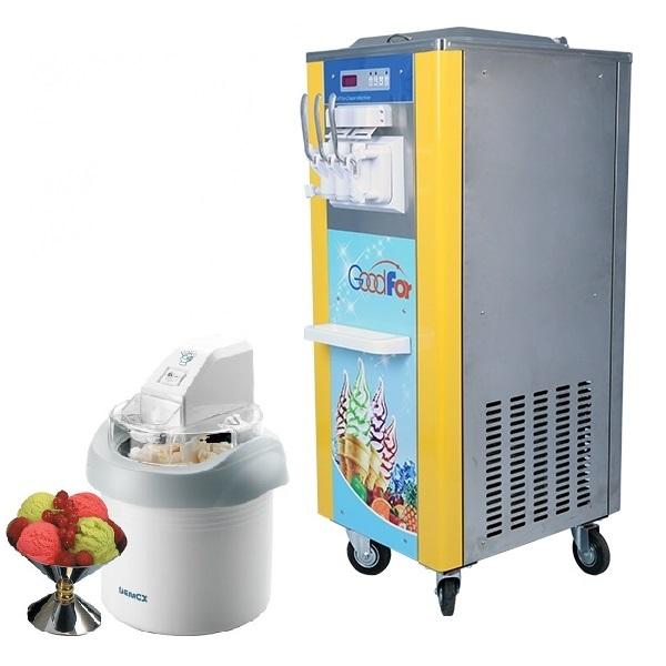 Chọn máy làm kem dựa vào kích thước