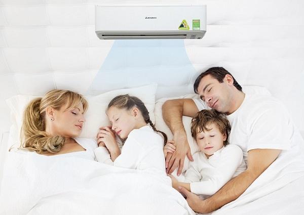 Lắp đặt điều hòa giúp giảm thiểu tiếng ồn bên ngoài mang đến cho gia đình bạn giấc ngủ ngon và sâu hơn