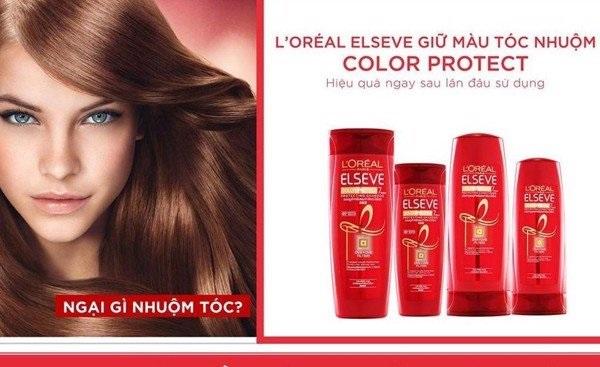 Dầu gội giữ màu tóc nhuộm L'oreal Elseve Color Protect 7 Weeks