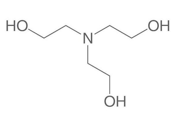 Cấu tạo phân tử của triethanolamine